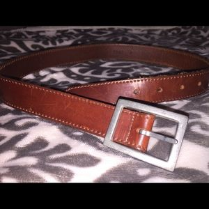 bebe 1990 Brown Leather Belt - Size XS